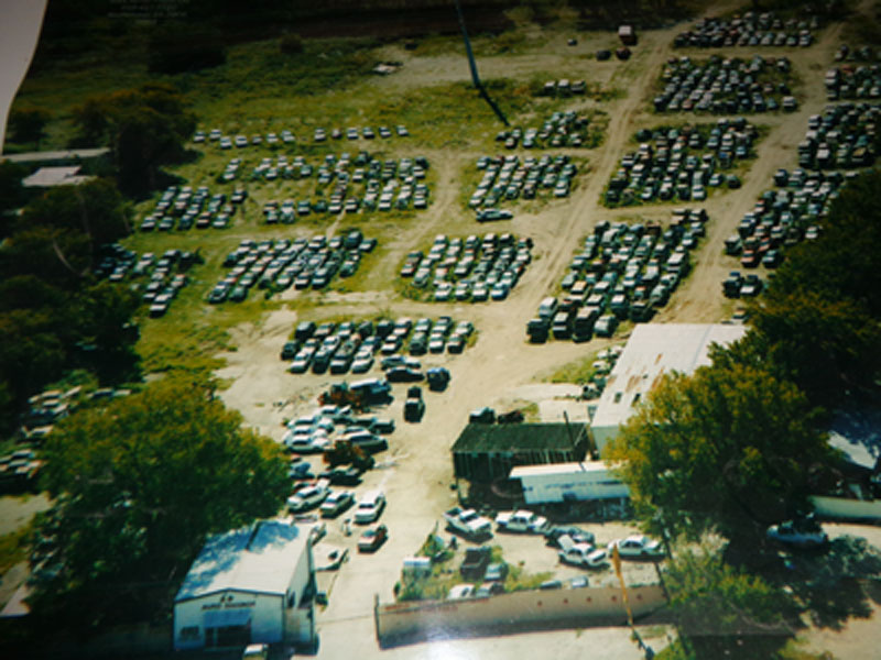Aerial view of A Plus Auto Salvage